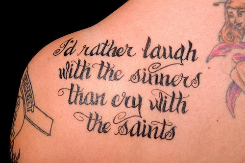 Sing Along With These 15 Song Lyric Tattoos From Billy Joels