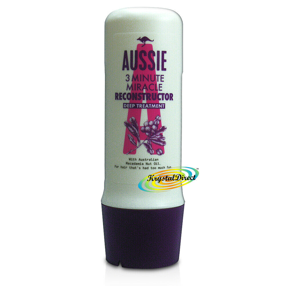 Aussie 3 Minute Miracle Hair Reconstructor Deep Treatment Conditioner 250ml  eBay