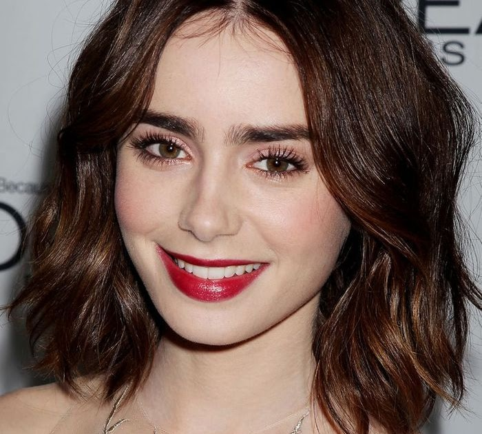 coupe de cheveux lily collins jodi mcquaig blog. Black Bedroom Furniture Sets. Home Design Ideas