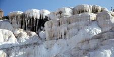Foto de los depósitos de cal en Pamukkale (Turquía)