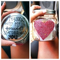 Cute idea for valentines day, or if you're going to be away from each ...