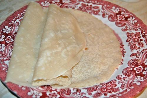 Savory wheat pancakes