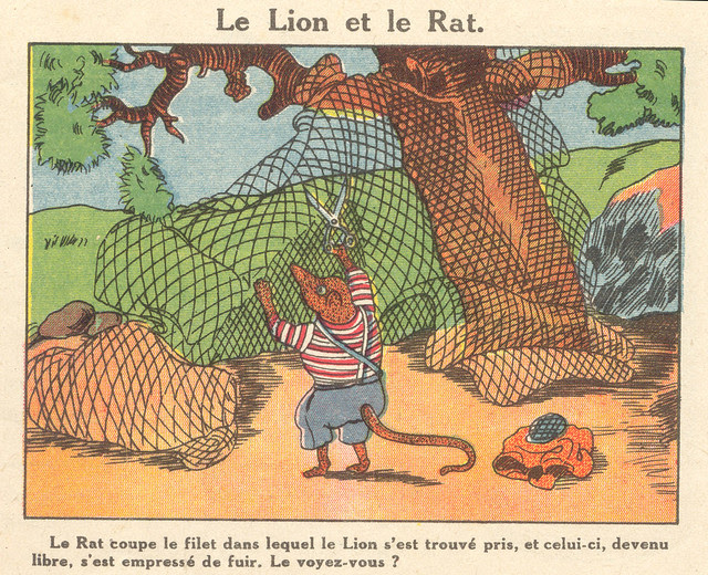 lion et rat