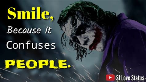 smile   confuses people joker whatsapp status