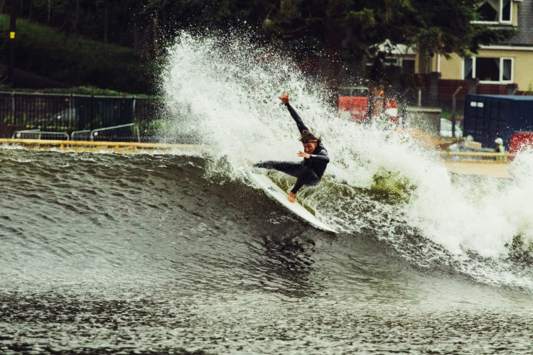 Surf Snowdonia: Alan Stokes is clearly stoked | Photo: Surf Snowdonia