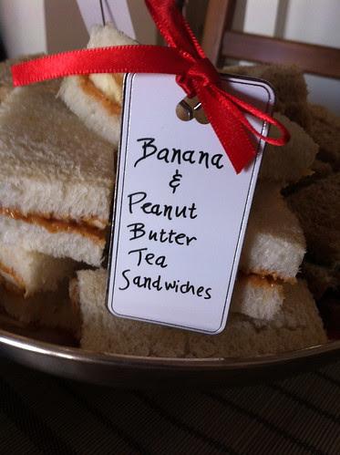 Banana & Peanutbutter Tea Sandwiches