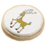 Christmas Ruddy Reindeer Round Premium Shortbread Cookie