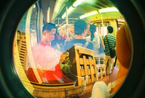 fisheye view inside the LRT
