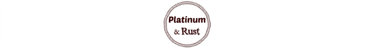 platinum and rust on etsy