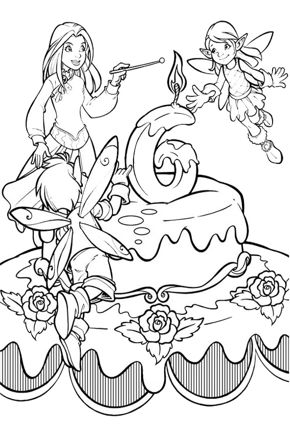 Happy 6th Birthday Coloring Pages at GetDrawings   Free ...