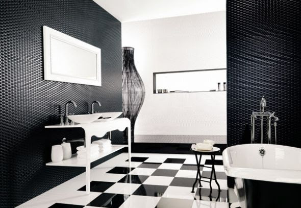 23 Traditional Black And White Bathrooms To Inspire | DigsDigs