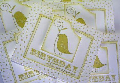 Birdie day cards