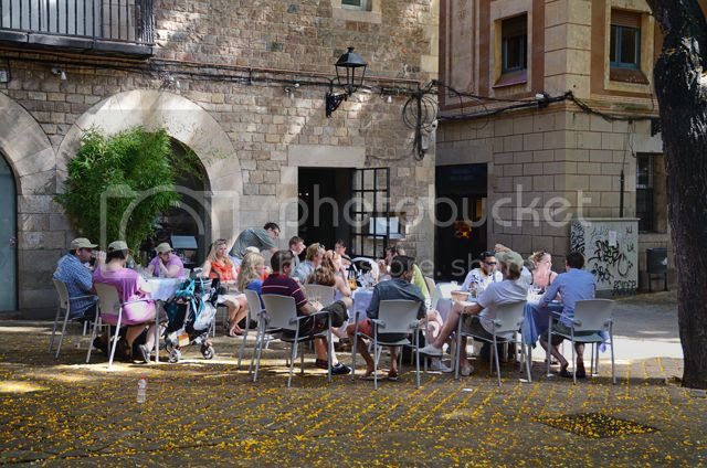 Bar Terrace at Sant Felip de Neri Square in Barcelona, Spain [enlarge]