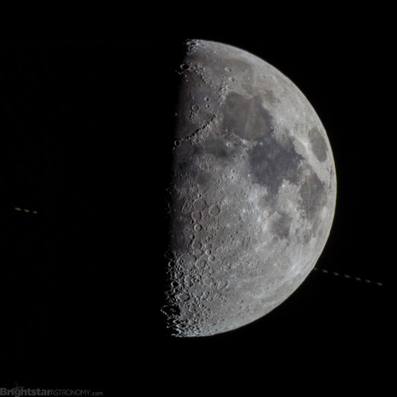 The 1st Quarter Moon occults Saturn during the last event in the series on August 5th, 2015. Sequence courtesy of Teale Britstra.