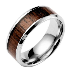 15 Collection of Men's Wood Grain Wedding Bands