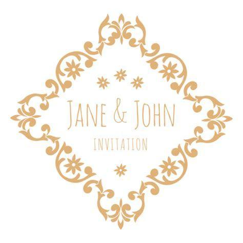 Diamond wedding invitation label   Transparent PNG & SVG