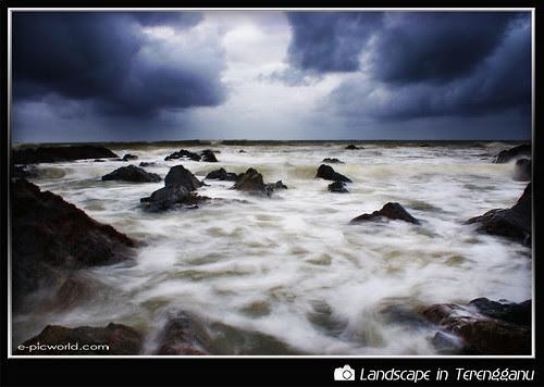 gloomy day at pandak beach