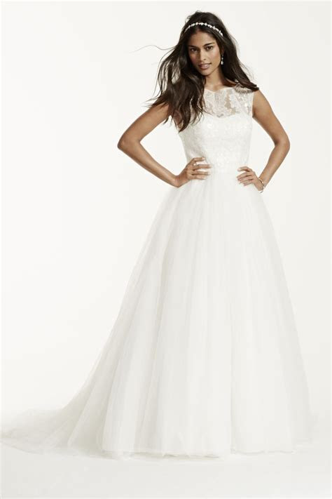 Cap Sleeve Tulle Ball Gown with Illusion Neckline Style WG3672