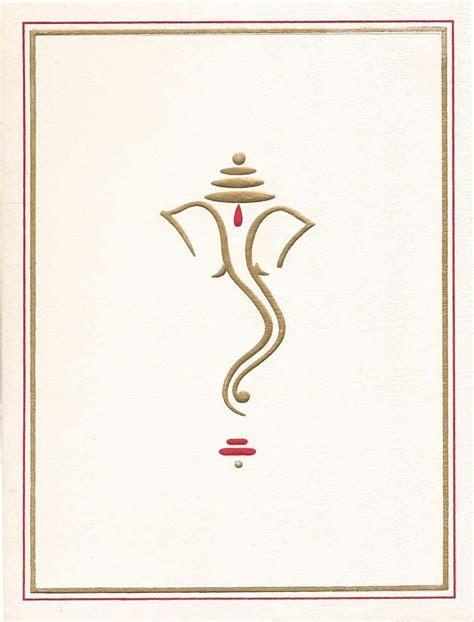 ganesh symbol for wedding cards gold   Google Search