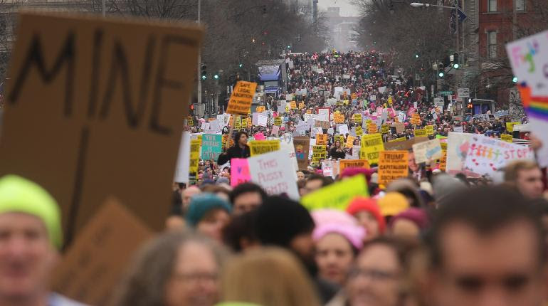 Resultado de imagen para EEUU: Cientos de miles en marchas de mujeres contra Trump
