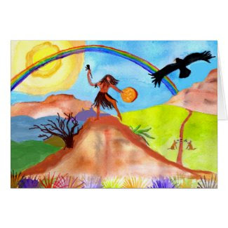Wild -Self Shamanic Greeting Card