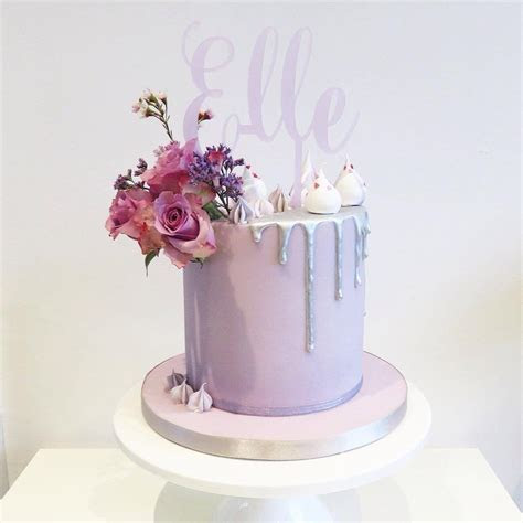 Silver Drip Cake   Drip cake &.. in 2019   18th birthday