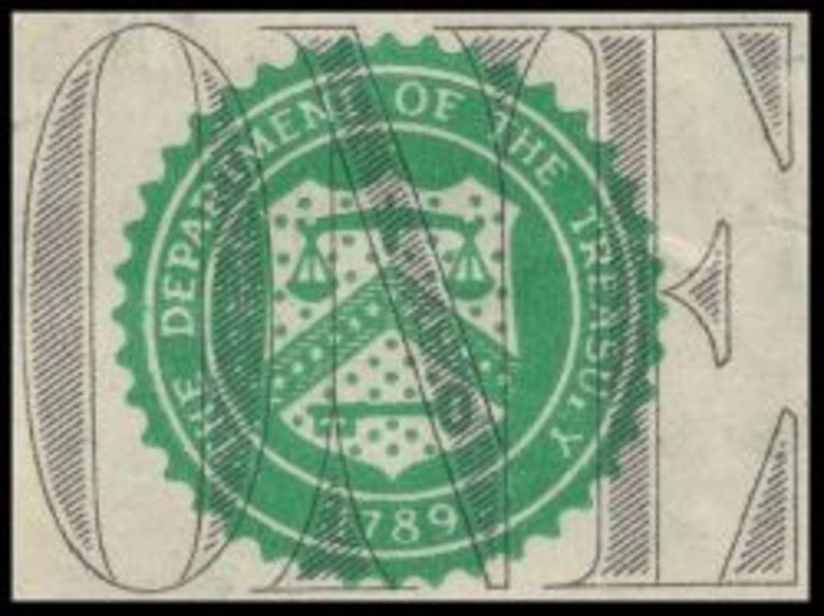 US Department of Treasury Seal from $1 bill