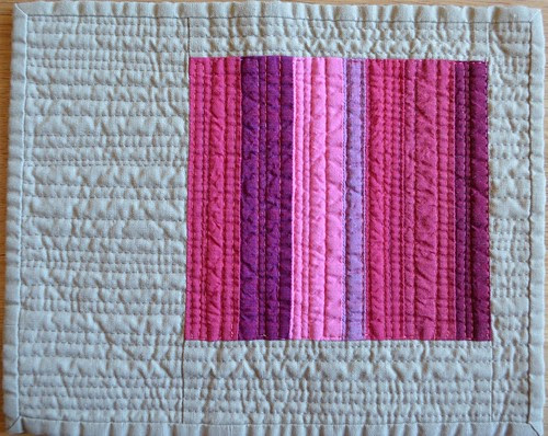 Pink - a Red inspired mini quilt