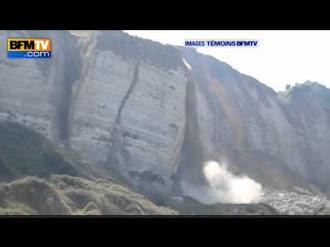 Derrumbe en vivo de un acantilado