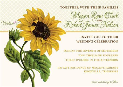 A Vintage Sunflower Wedding Invitation is unveiled