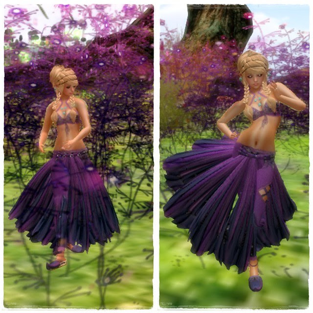 Raqu Baladi purple dancing