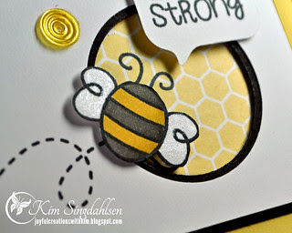 Bee Strong close up