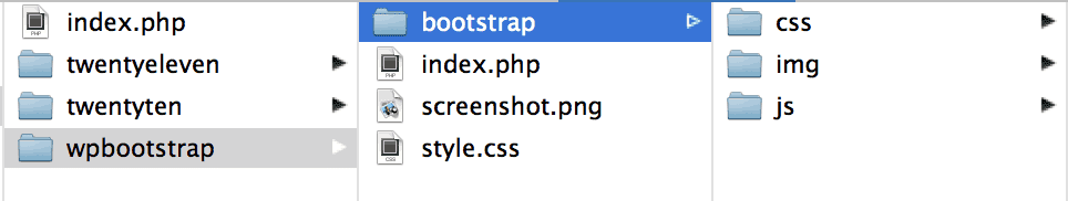 Screenshot showing the file structure with the index, css, and screenshot