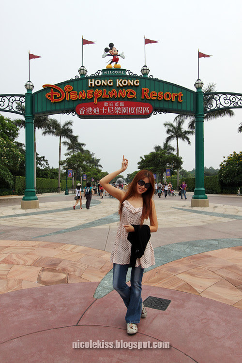 in front of hk disneyland