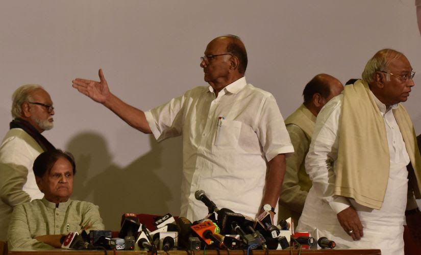 Sharad Pawar has convened a meeting of the NCP's core committee in Pune on Sunday, which makes it difficult for him to reach Delhi in time. Getty Images