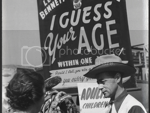 Tyne & Wear Archives & Museums' photo of Lee Bennett guessing a woman's age