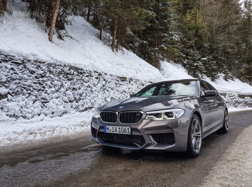 The New Bmw M5 In Champagne Quartz Goes Into The Alps Car Spy Shooter