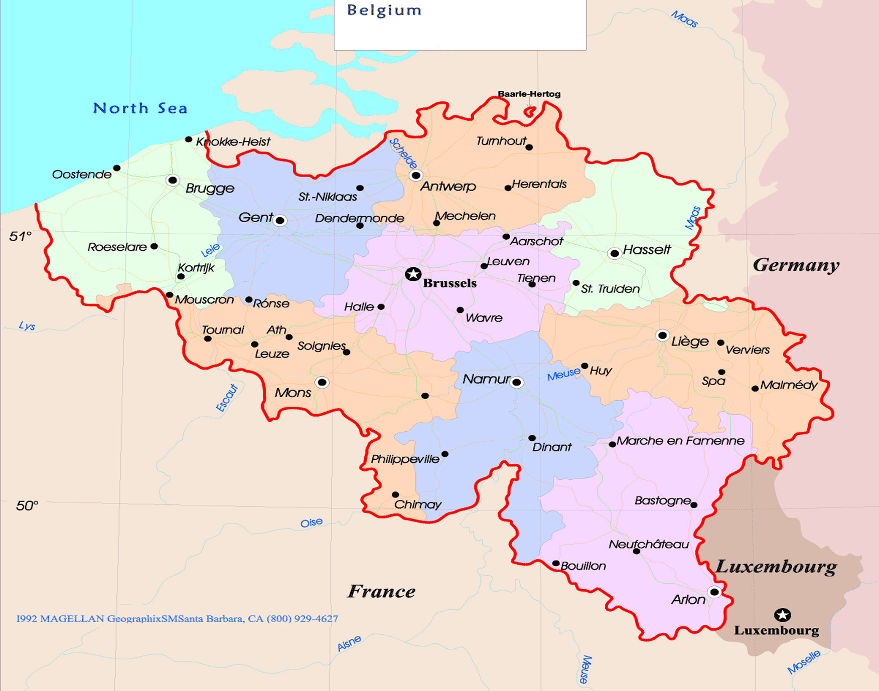 The Map Of Belgium