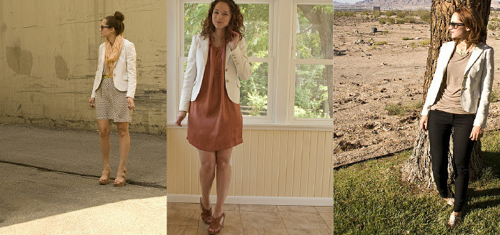 white blazer, theory jacket, lapels, ways to wear, outfit ideas, idearrrz