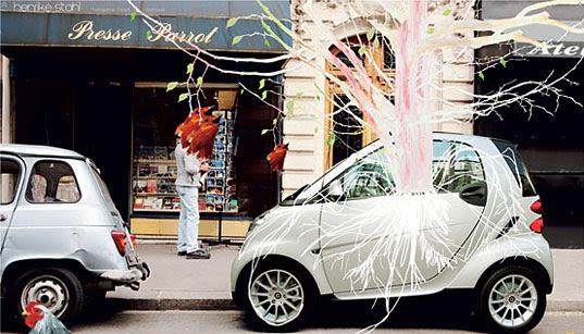 Smart Car, Smart Car USA, Smart Car Sideways, Sideways: A Smart Art Project, Smart Car book project, Smart Car art project, Smart Car environmental art, Smart Car eco-art