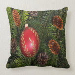 Christmas Bulb And Pine Pillows
