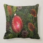 Christmas Bulb And Pine Pillows