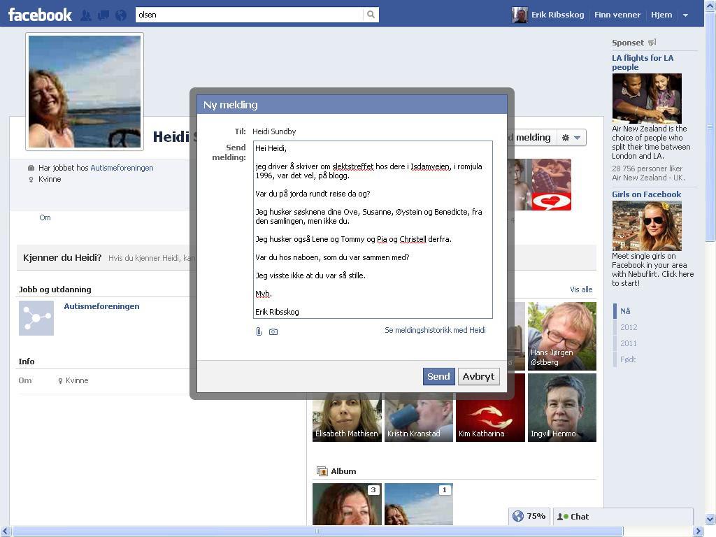 facebook melding heidi