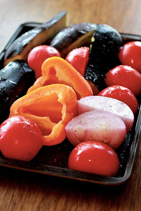grilled summer ratatouille pasta