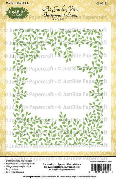 A2 Garden View Cling Background Stamp