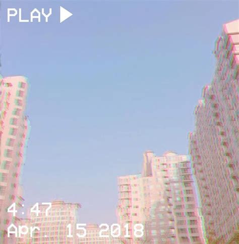 vhs aesthetic city pastel