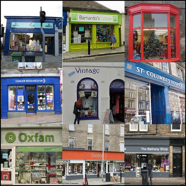 edinburgh charity shops