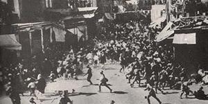 L'esercito inglese fronteggia una rivolta araba a Giaffa nel 1936