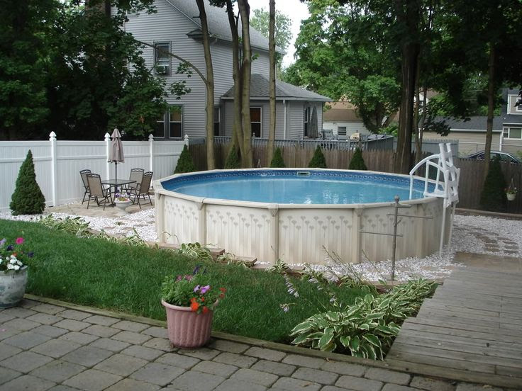 Backyard ideas with above ground pools