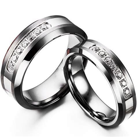 Tungsten Carbide Women or Mens Wedding Engagement Ring